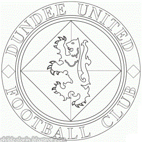 Emblem of Dundee United FC Coloring