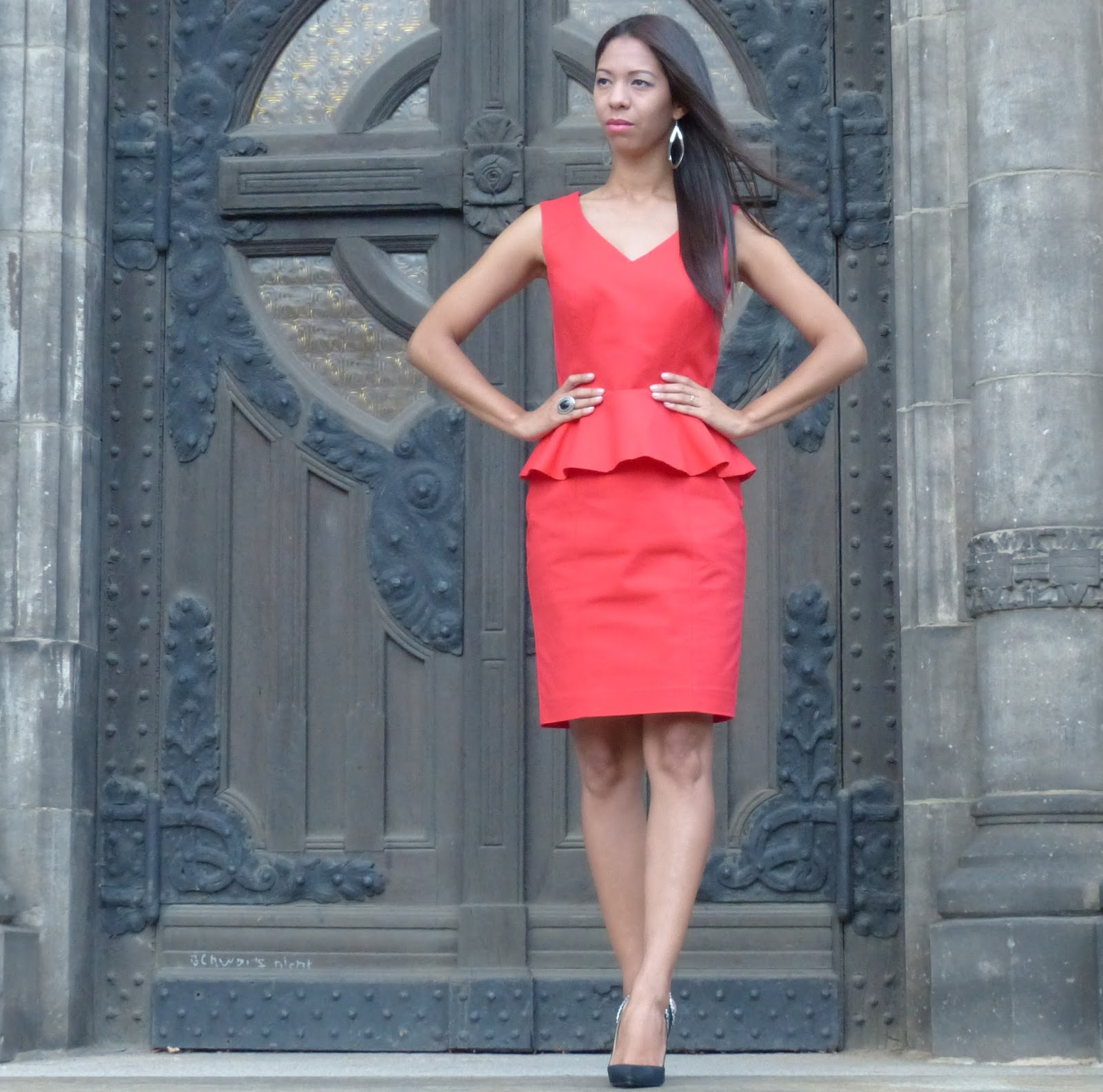 Between tastes and colors: Peplum dress..Schößchen Kleid.. vestido ...
