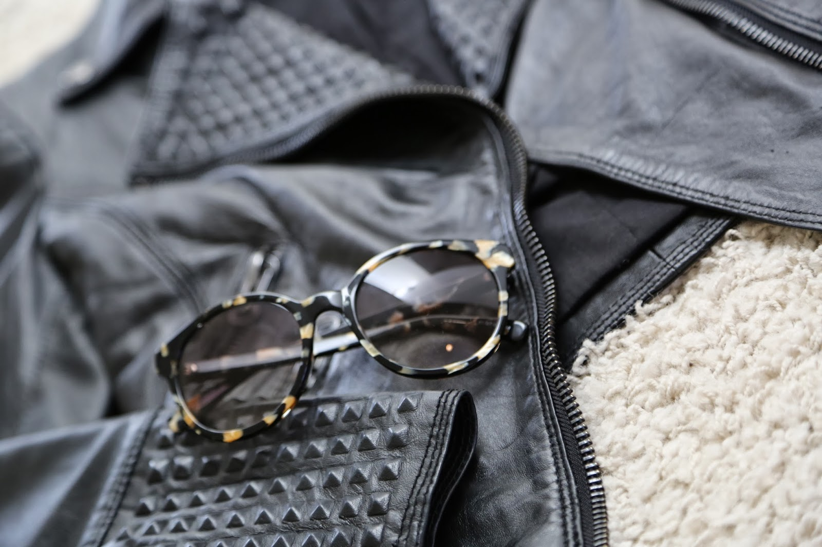 Dirty Blonde Ambition: Looks for Less: Leather & Lenses