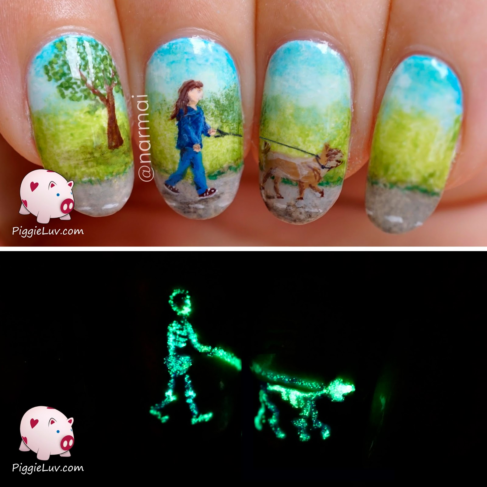 Piggieluv X Ray Nail Art Glow In The Dark