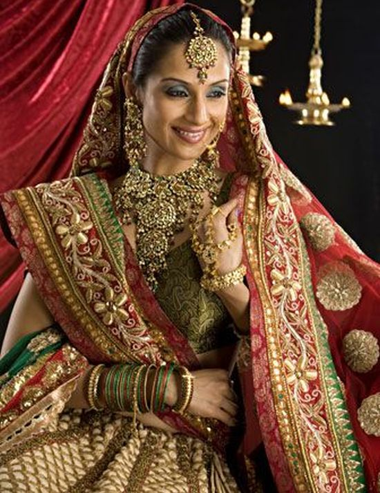 Indian traditional bridal wear bridal wear how to draw for Indian women wedding dress