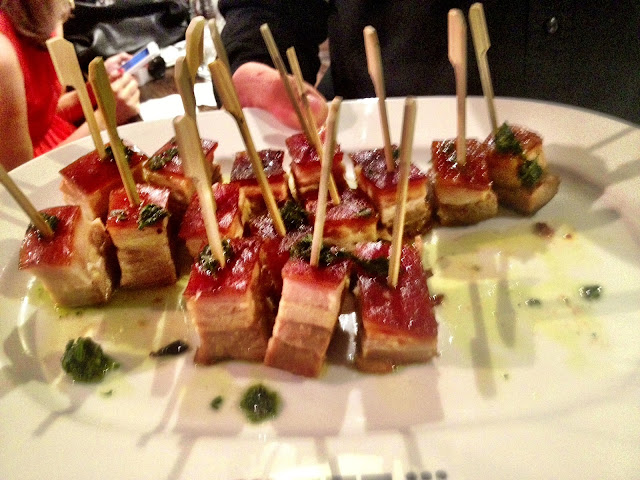 Pork belly canapés - Smiths Spitalfields
