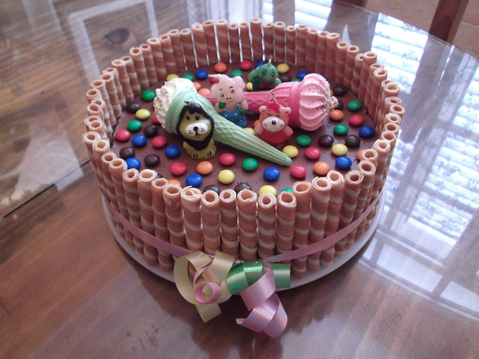 decoracion infantil tarta tres chocolates