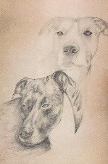 Retrato de tatuagens de cães