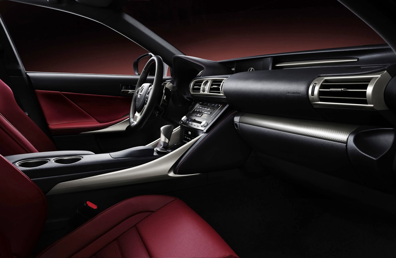 Interior view of the 2014 Lexus IS 350 F-Sport