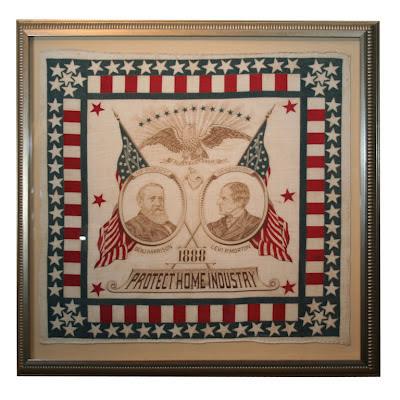 1888 Campaign bandanna: Harrison/Morton