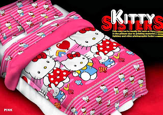Sprei Renette Motif Hello kitty Sisters