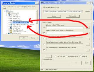 Gambar 10 Cara Membuat Dual Bootable Flashdisk untuk Win XP dan Win 7 atau Win 8