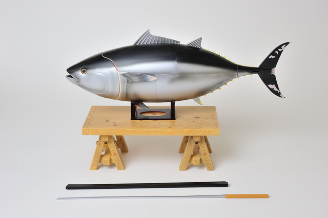 Kazuyoshi Watanabe's dissectable Maguro [tuna] model by Japanese model-toy makers HobbyStock. model fish, japan