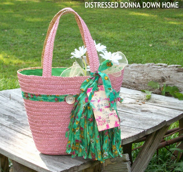 pink and green market bag. straw tote