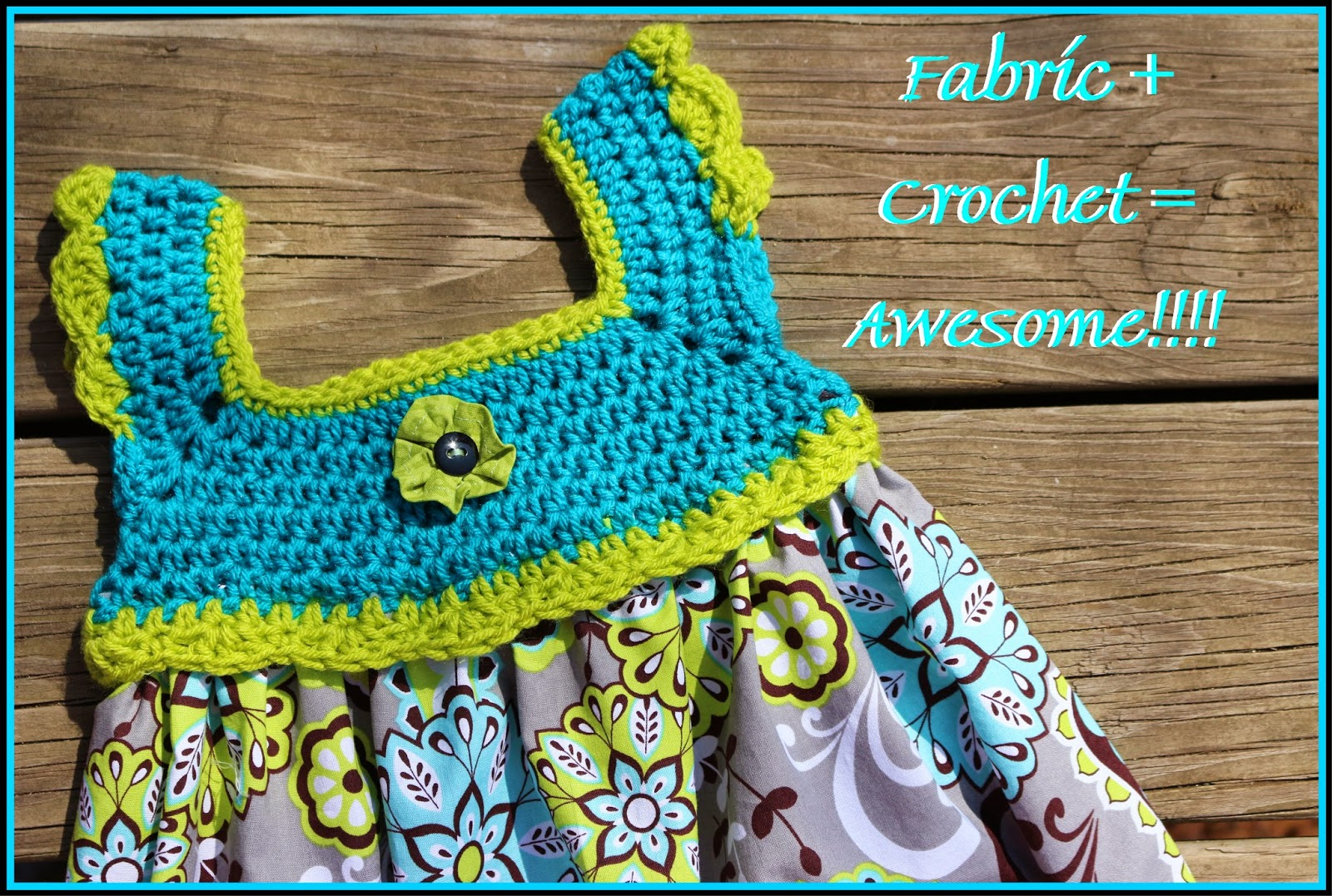 This Housewife Life: Crochet + Fabric = AWESOME ~FREE PATTERN~
