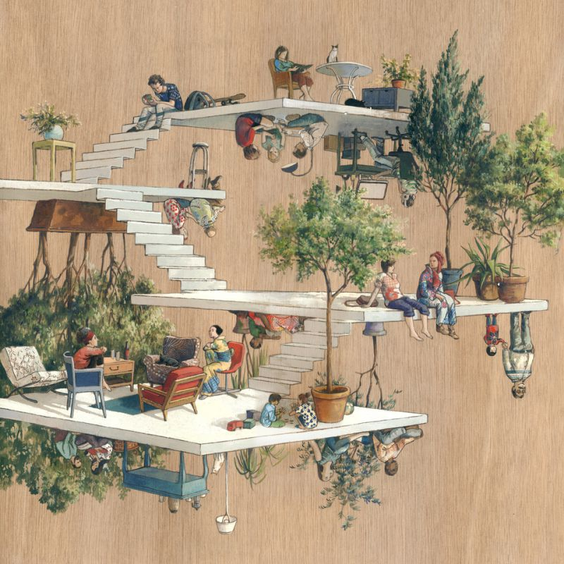 19-Terrasses-Cinta Vidal Agulló-Multi-directional-Surreal-Architecture-Drawings-and-Paintings-www-designstack-co