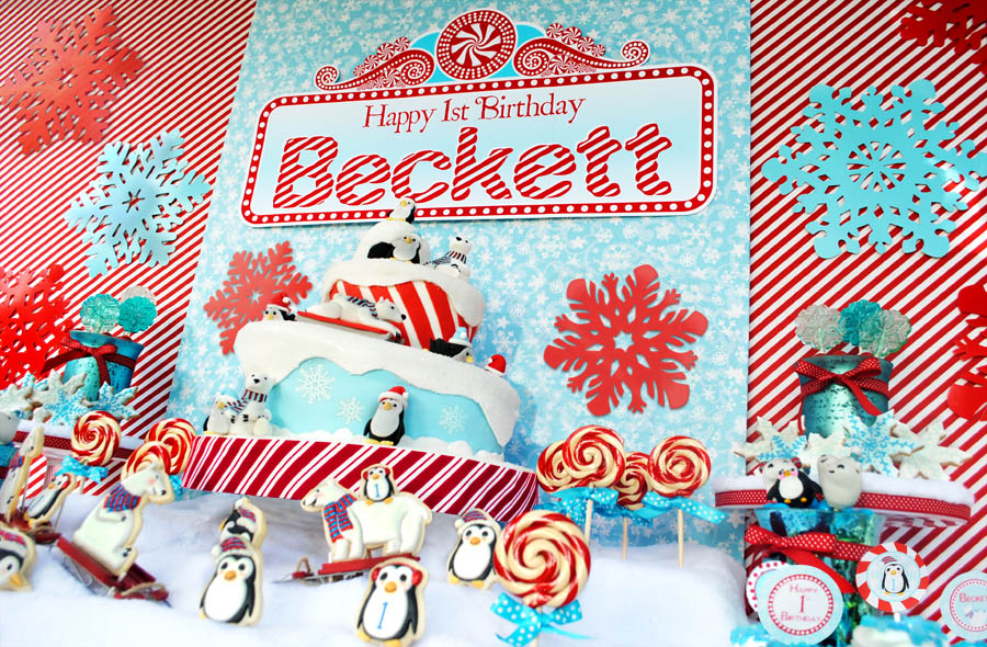 Christmas 1st Birthday Party Ideas Part - 23: Karau0027s Party Ideas Winter ONEderland Birthday Party | Karau0027s Party Ideas