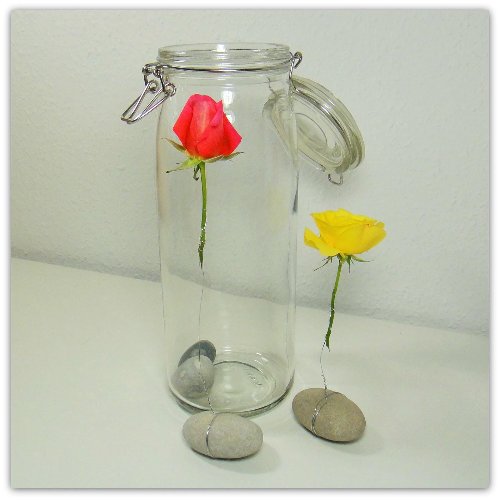 ines felix kreatives zum nachmachen rosen im wasserglas. Black Bedroom Furniture Sets. Home Design Ideas