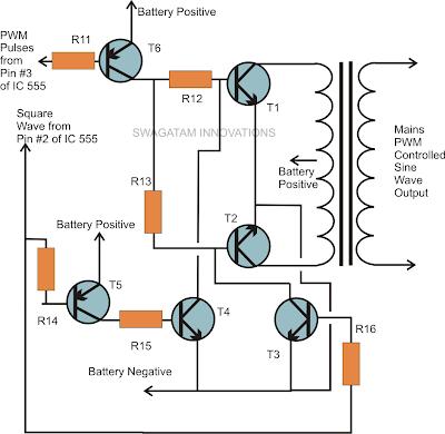 pure sine wave inverter circuit power transistor stage