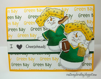 Green Bay Packers Homemade Card