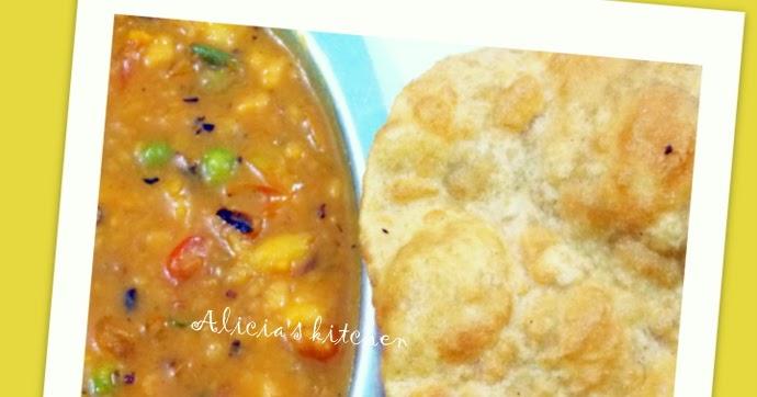 Antara's Kitchen: Poori/Puri bhaji(Puffed Indian bread with potato ...