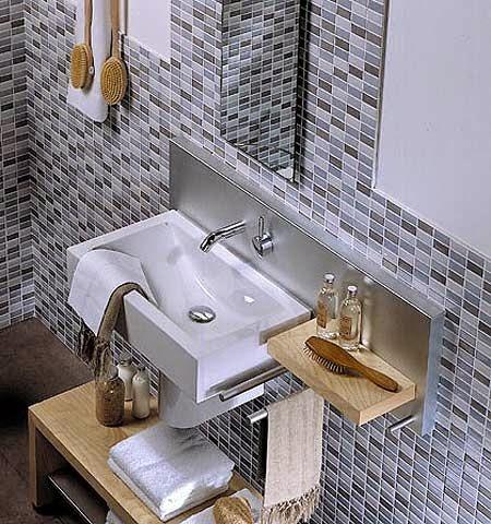 Lavabos para baños pequeños ~ Decoracion Casas. Ideas Interiores.