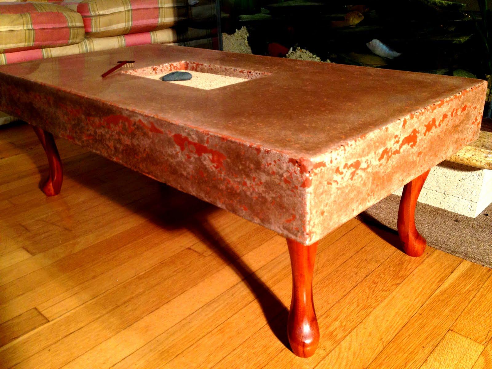 Zen Garden Concrete Countertop Coffee Table Dave Gagnon Woodwork