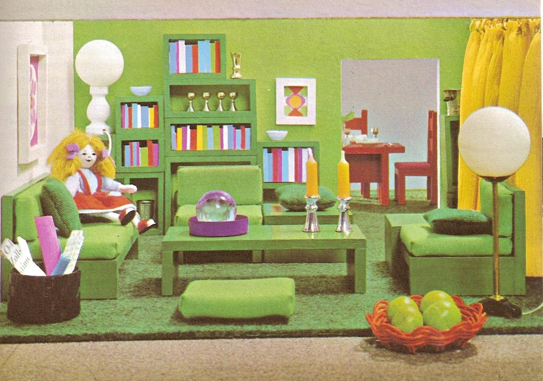 diepuppenstubensammlerin gr n 70s green 70er gr n 70s green 70er gr n 70s green. Black Bedroom Furniture Sets. Home Design Ideas