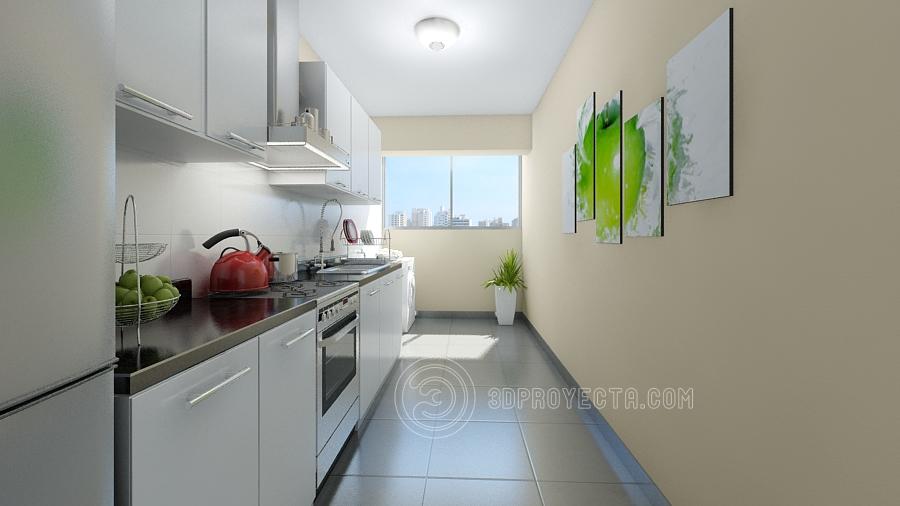 Vistas en 3d de cocina perspectiva virtual vistas 3d for Vistas de cocinas