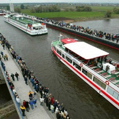 German Architecture: The Magdeburg Water Bridge
