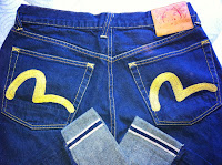 lovely evisu yellow size 32