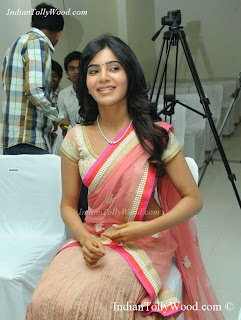 actress smantha latest pink saree photos