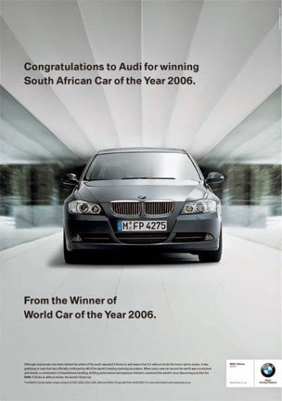 car advert war audi bmw