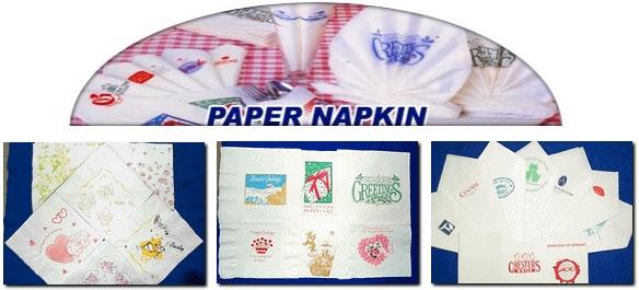 กระดาษเช็ดปากสกรีนโลโก้ หรือ กระดาษแน๊ปกิ้นสกรีนโลโก้