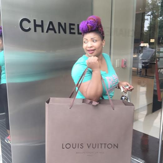 laide bakare shopping in new york