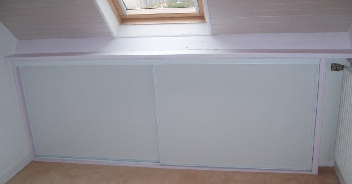 ivan sauveur agencement int rieur placard sur mesure pour sous pente porte coulissante. Black Bedroom Furniture Sets. Home Design Ideas