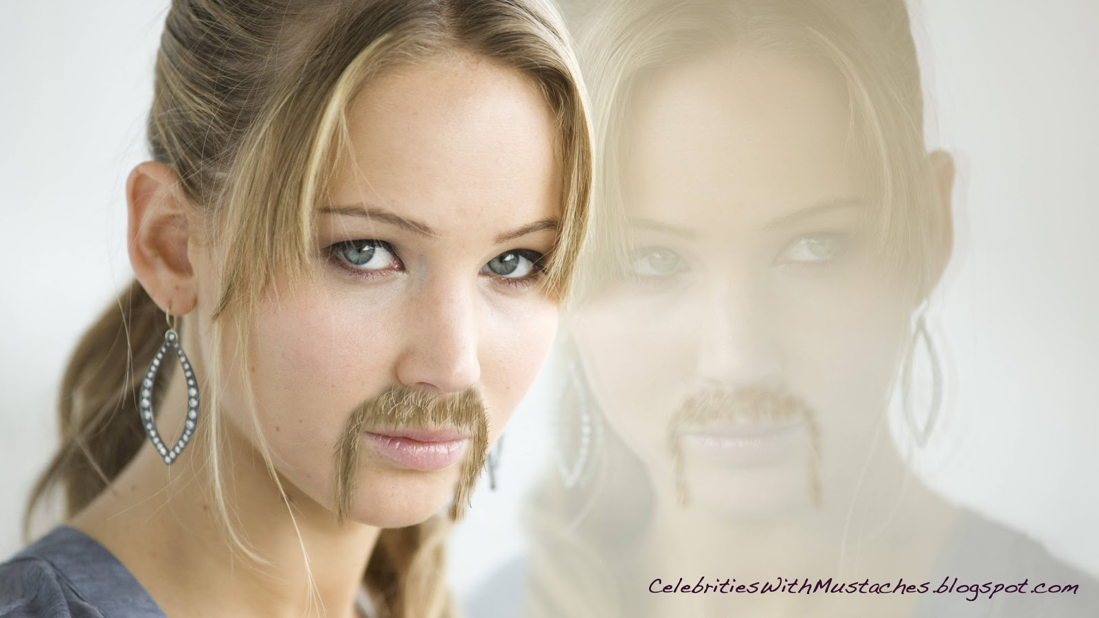 Jennifer Lawrence Ponders her Mustache