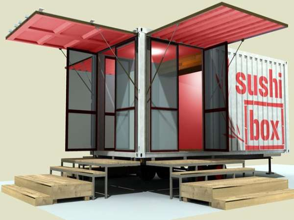 Relaxshacks sushi box a shipping container