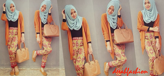 Preppy Hijab Gaya Jilbab Simple Kasual 2014