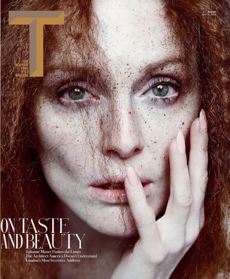Julianne Moore on the Cover of T Style Design Spring 2013