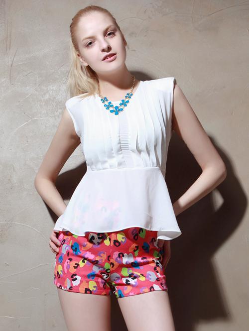 Neon Leopard Print Shorts