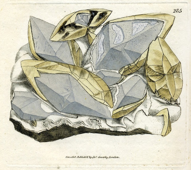 CALX carbonata. Crystallised Carbonate of Lime. Plate no. 285