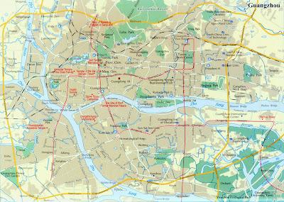Map Guangzhou