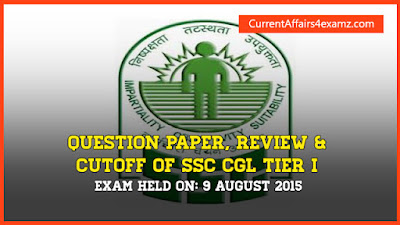 SSC CGL 2015 Question Paper