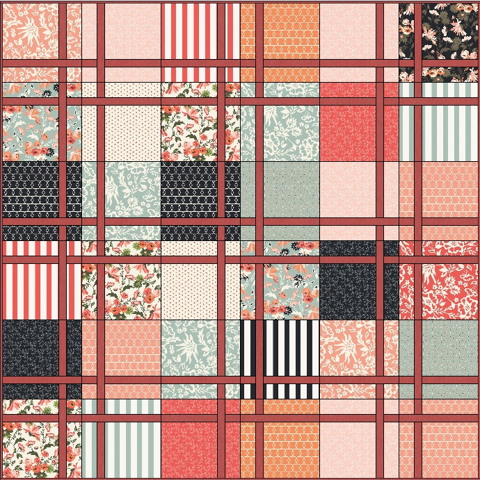 Lets Quilt Something: Persimmon - Free Quilt Pattern - Layer Cake