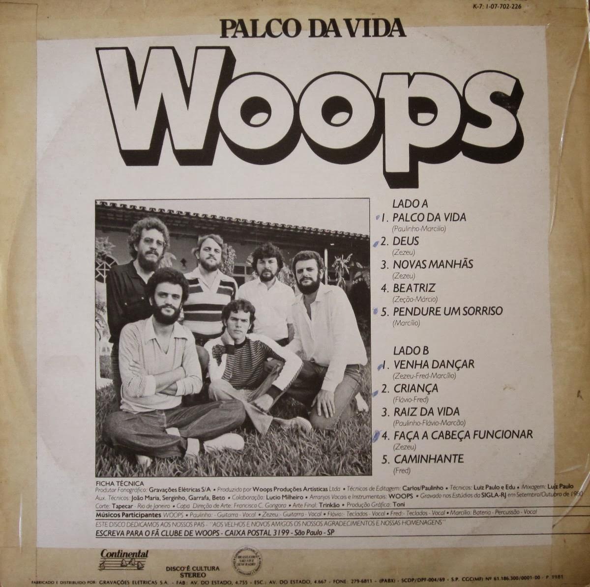 Woops Palco Da Vida