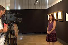 Entrevista para la televisión en Estambul
