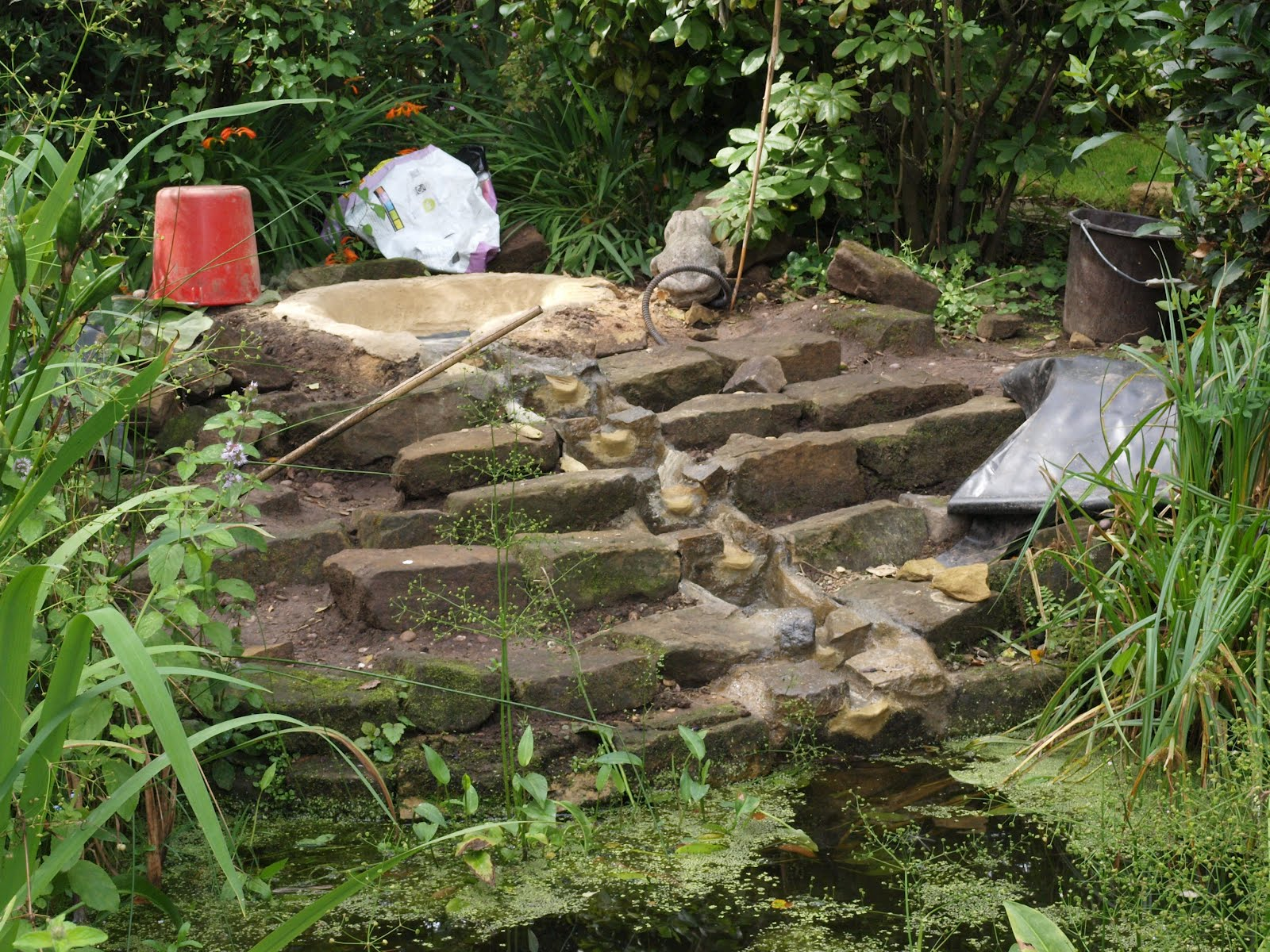 Ragged Robin\'s Nature Notes: A New Water Feature in the Garden