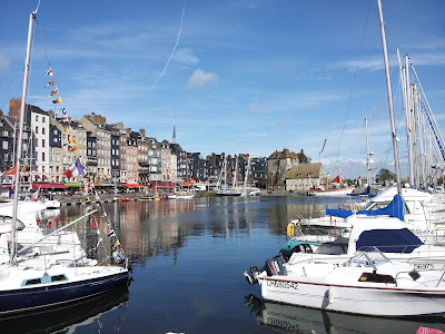 Boats in the marina at Honfleur, Normandy, France