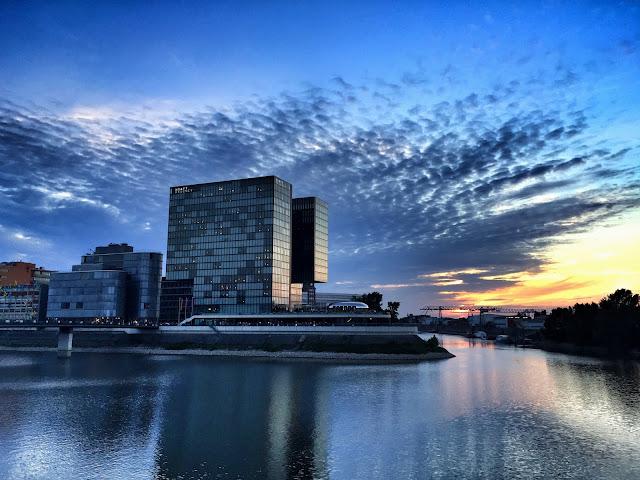 Hafen Sonnenuntergang Medienhafen