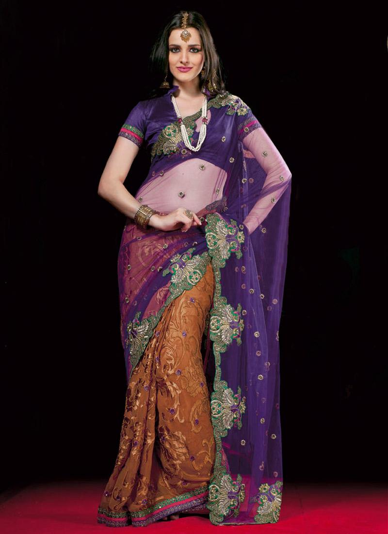 designer net half sarees