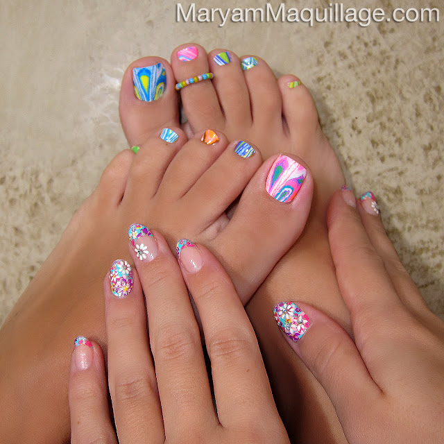 Pretty Manicure Hippie Nail Designs