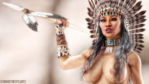 Sexy Native American Woman Wallpaper