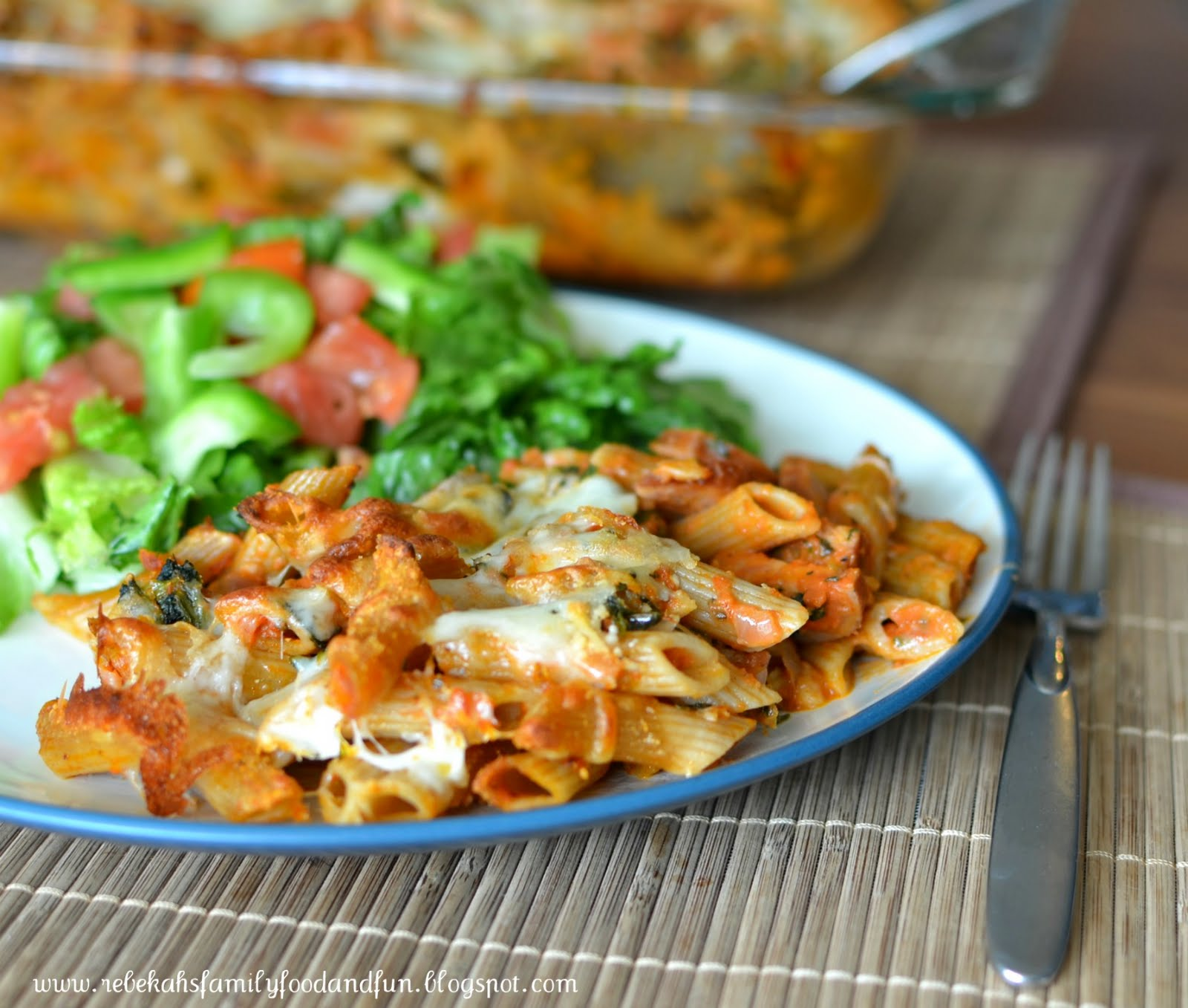 Family, Food, and Fun: Baked Pasta with Chicken Sausage